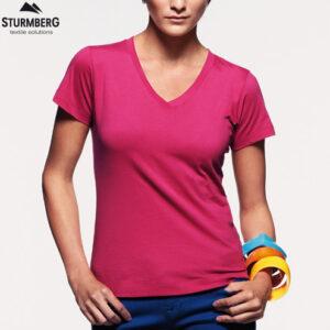 Hakro T-Shirt V-Neck Lady classic 126