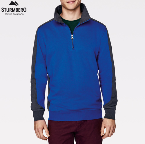 Hakro Zip-Sweatshirt Contrast Performance Unixex 476