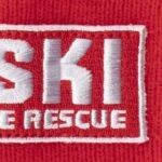 Mütze besticken lassen rot huski badge