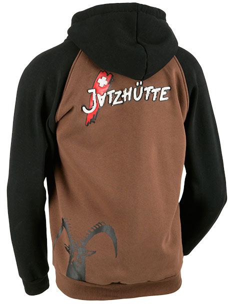 """Kapuzenpullover """"Jatzhütte"""" / Design von Sturmberg"""