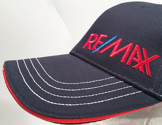 "Stickerei auf Baseballcap ""Remax"" Sturmberg"
