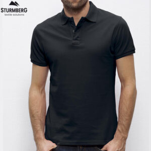 Poloshirt-Shirt Stanley Stella Herren - Modell performs - Sturmberg