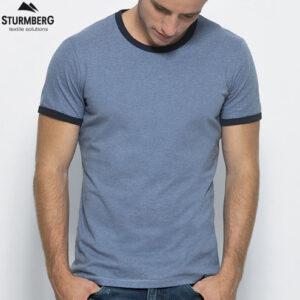 T-Shirt Stanley Stella Herren - Modell holds - Sturmberg - t-shirt bedrucken