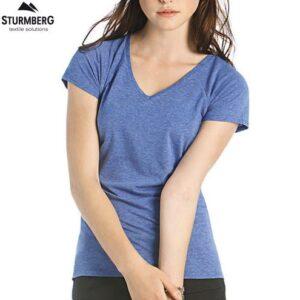 T-Shirt B&C Lady V-Neck 135