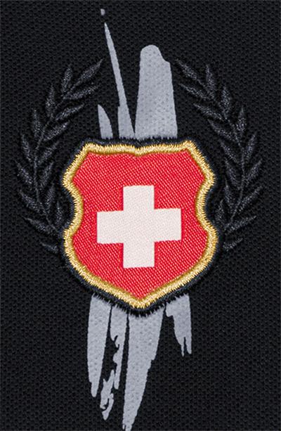 """Poloshirt """"Schweiz"""" / Design von Sturmberg"""
