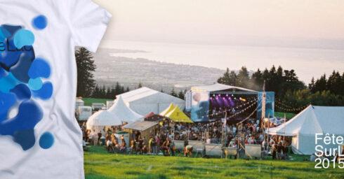 feteSurLeLac festival 2015 t-shirt weiss, siebdruck, rastersiebdruck, sturmberg